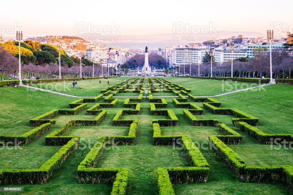 Miradouro do Parque Eduardo VII, Lisbon stock photo