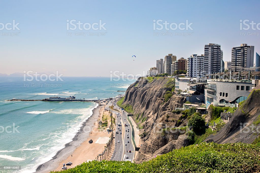 Miraflores in Lima Peru stock photo