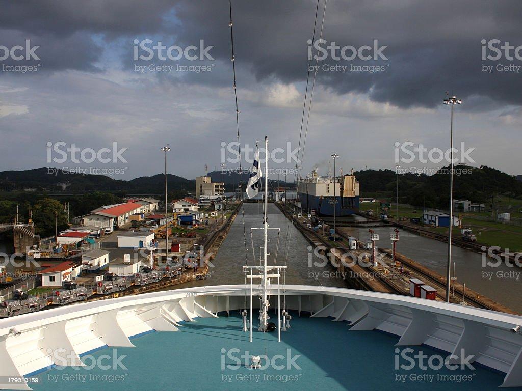 Miraflores Locks stock photo