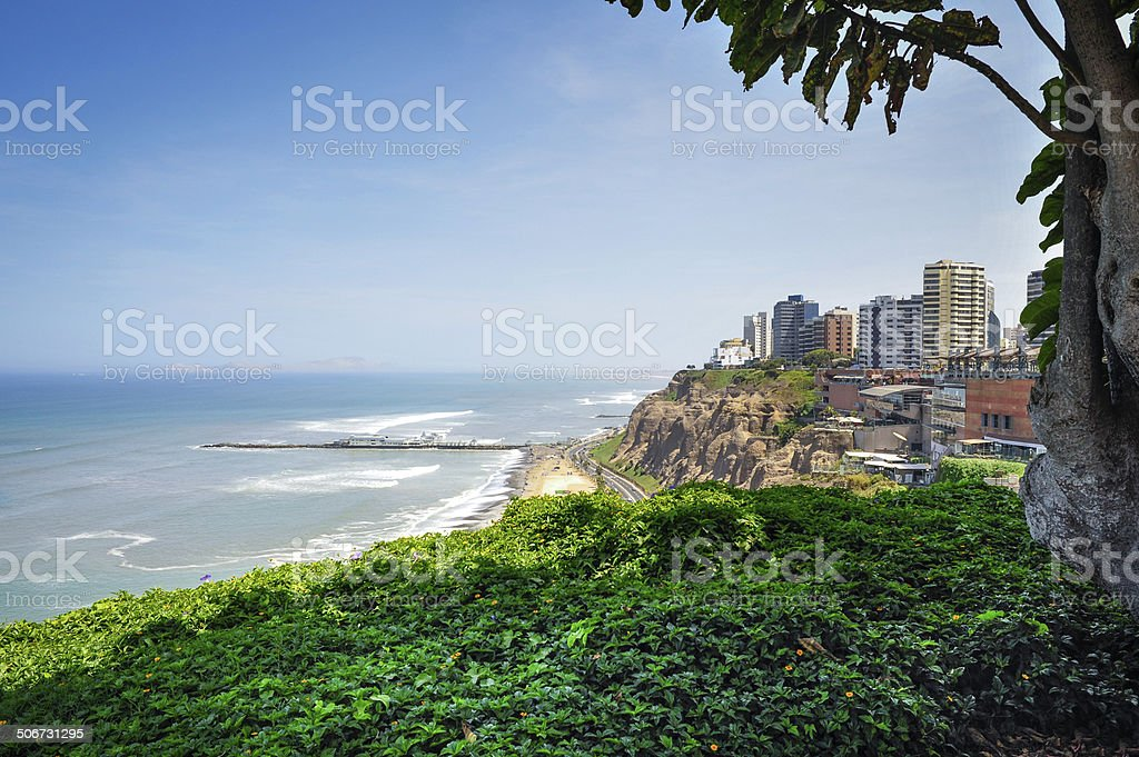 Miraflores Town landscapes in Lima ,Peru stock photo