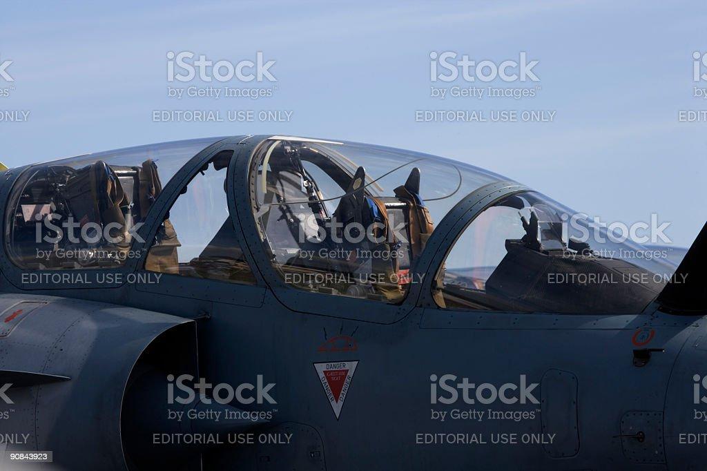 Mirage 2000 cockpit royalty-free stock photo