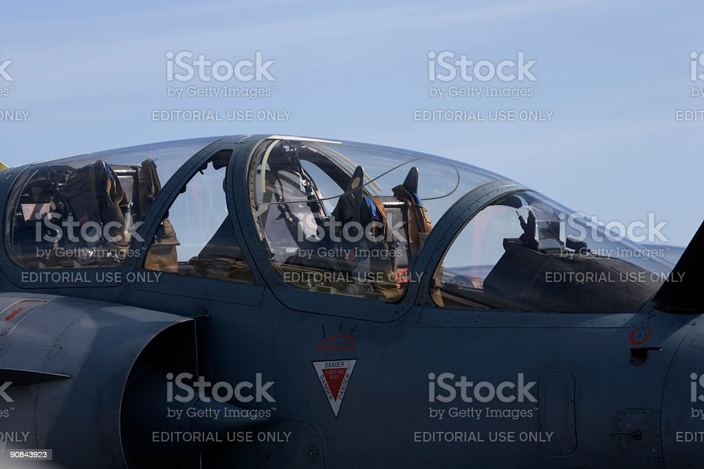 Mirage 2000 cockpit stock photo