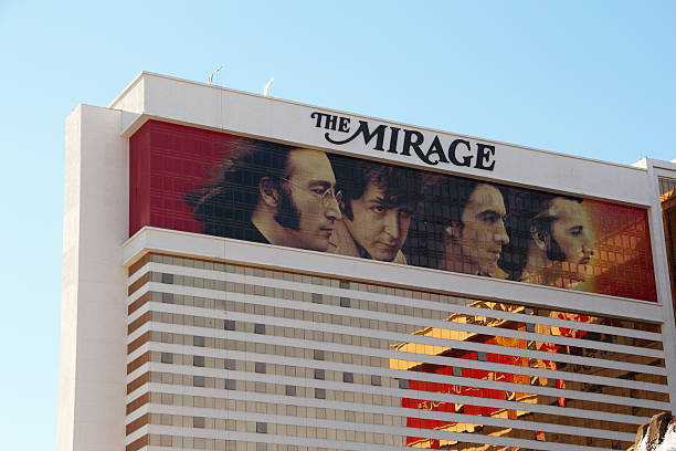 mirage beatles las vegas - beatles band stock-fotos und bilder