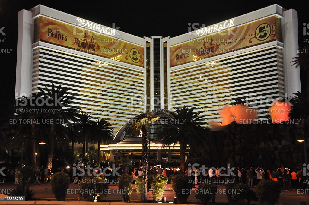 Mirage Hotel and Casino in Las Vegas, Nevada royalty-free stock photo