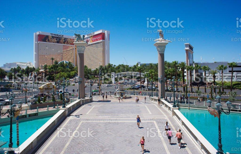 Mirage hotel in Las Vegas stock photo