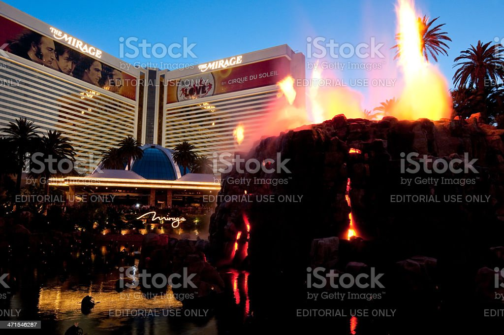 Mirage Hotel Volcano royalty-free stock photo