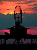A brazilian Mirage IIIDBR stands on a sunset!