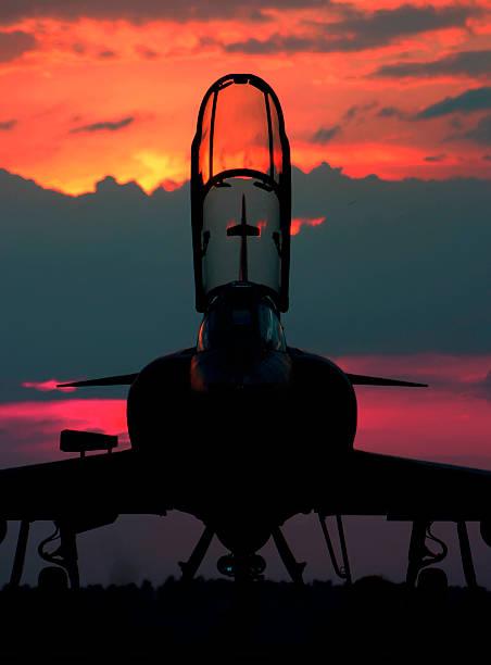Mirage III at Sunset stock photo