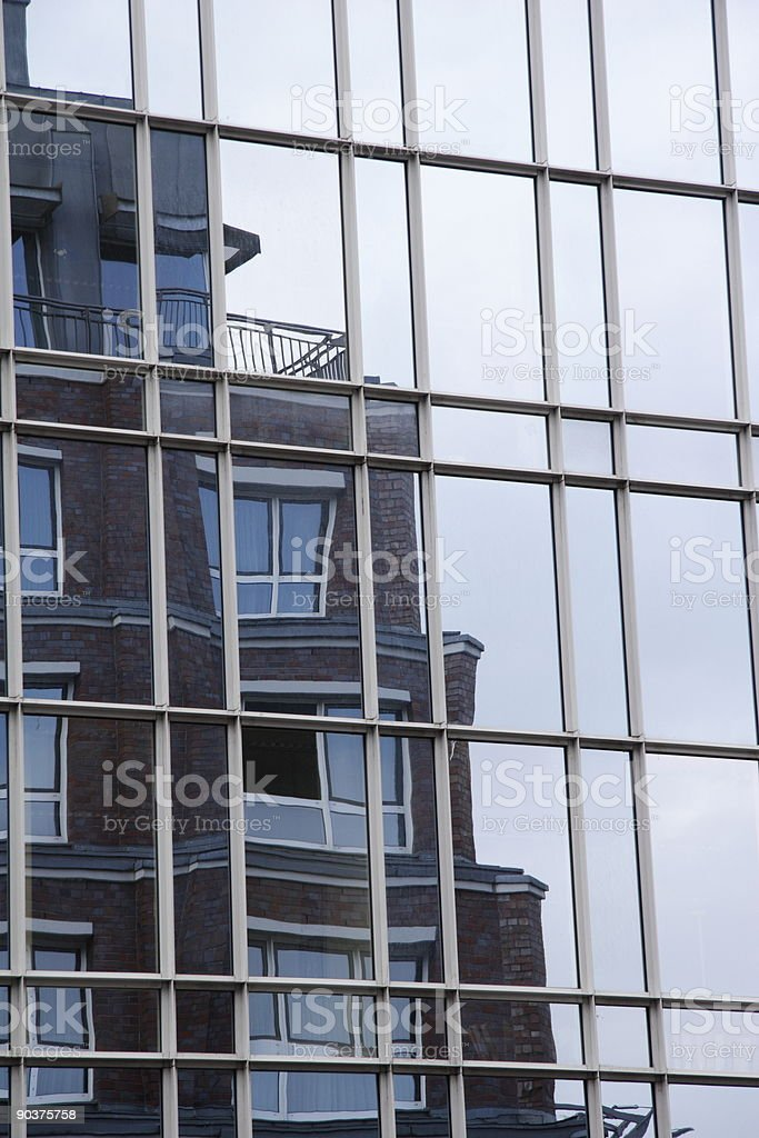 mirage in a glass front royalty-free stock photo