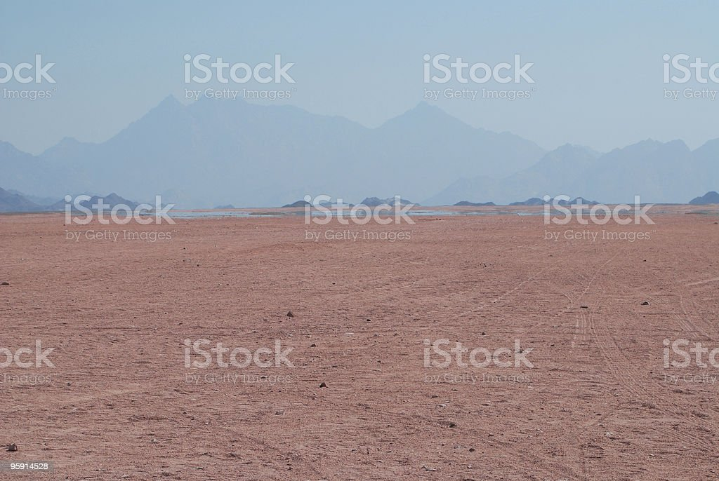 mirage in the desert royalty-free stock photo