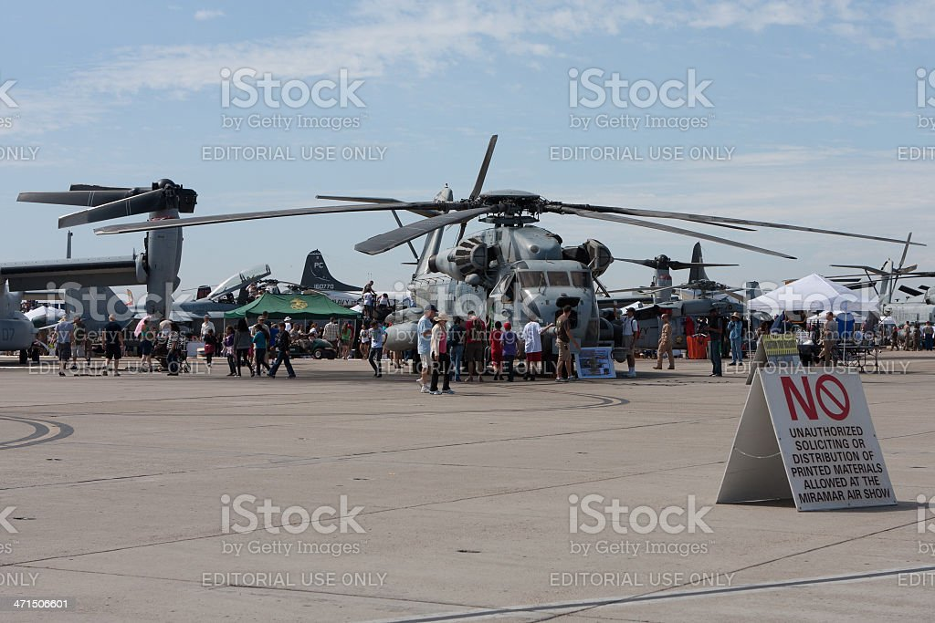 Miramar Airshow Crowd stock photo