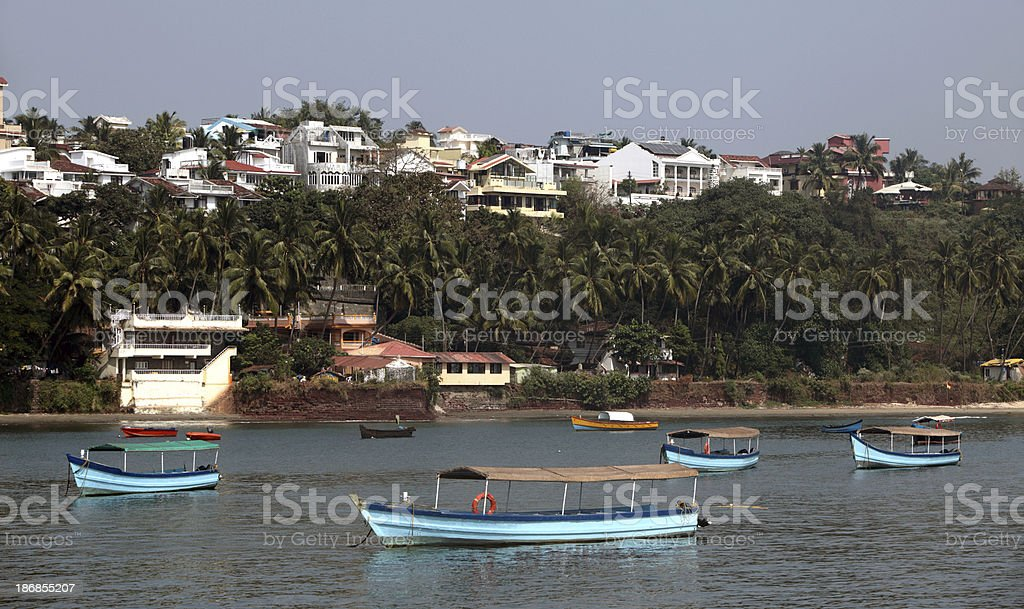 Miramar Beach Marina, Panjim stock photo