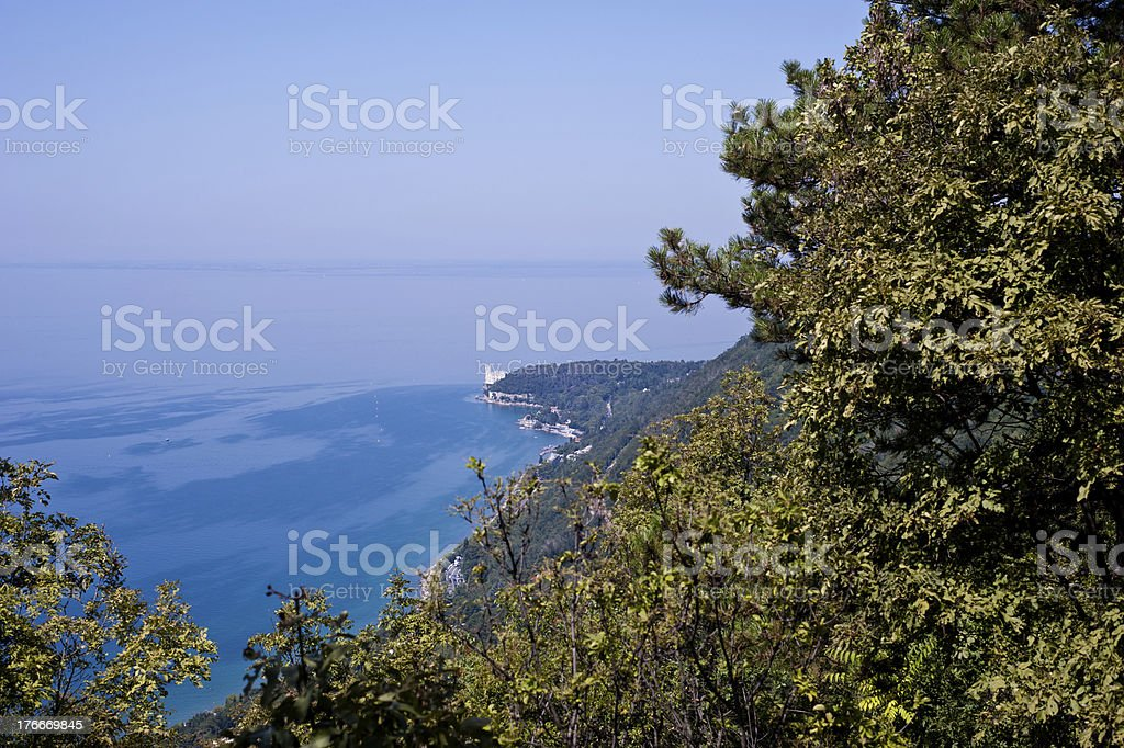 Castillo de miramar en Trieste foto de stock libre de derechos