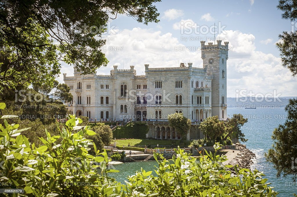 Miramare Castle stock photo