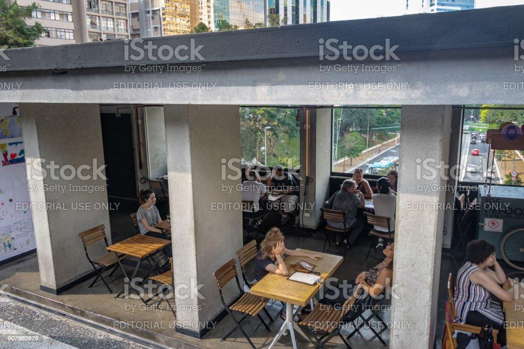 Mirante 9 de julho viewpoint Cafe - Sao Paulo, Brazil stock photo
