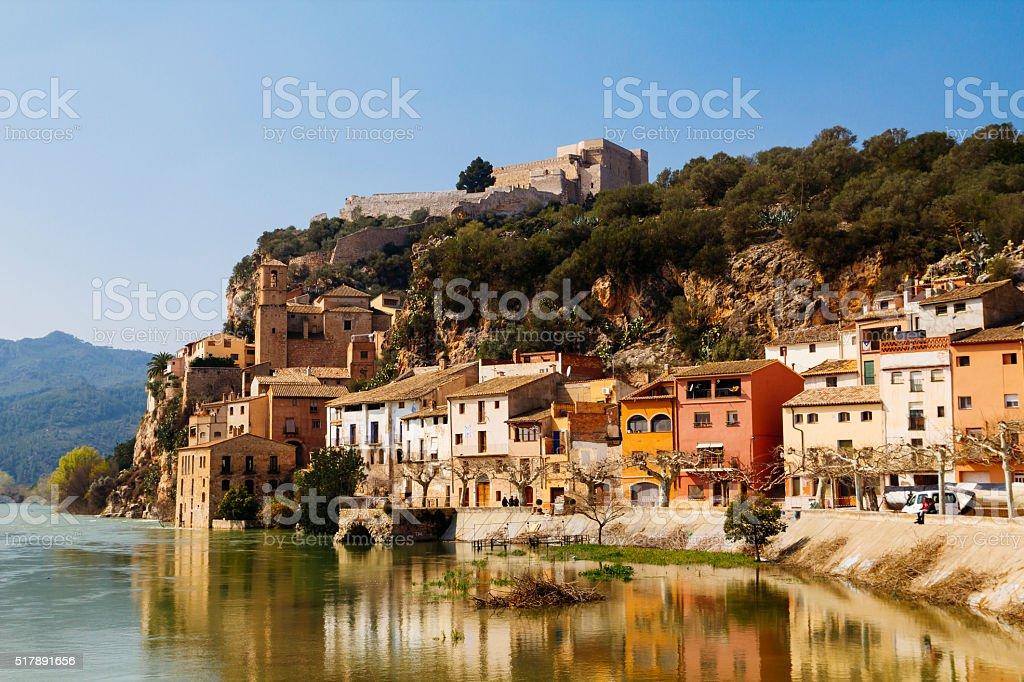 Miravet village in Catalunya, Spain stock photo