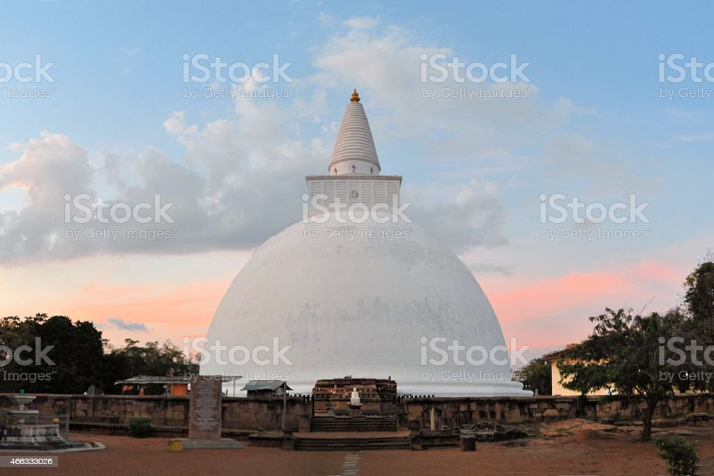 Mirisavatiya Dagoba Stupa, Anuradhapura, Sri Lanka stock photo