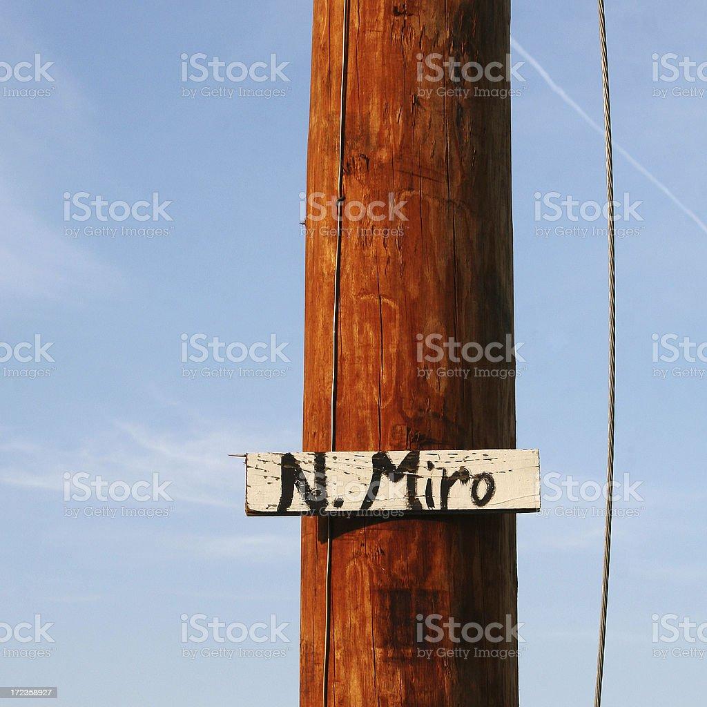 N. Miro Street royalty-free stock photo
