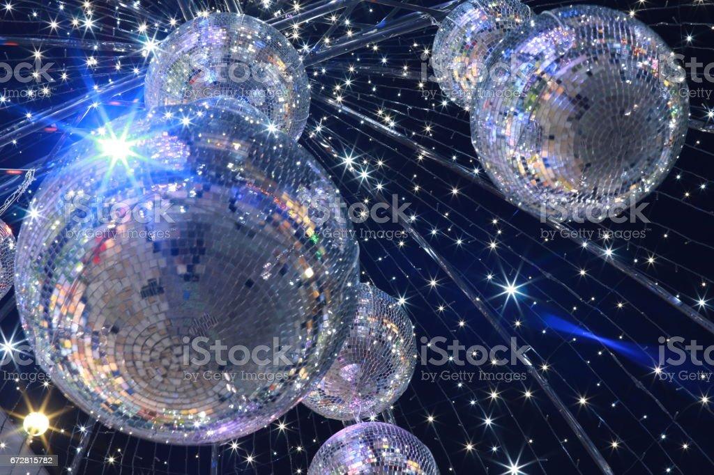 Mirror ball illumination stock photo