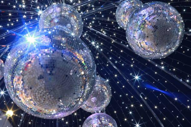 mirror ball illumination - disco ball stock pictures, royalty-free photos & images