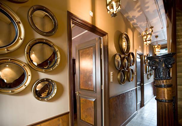mirror corridor stock photo