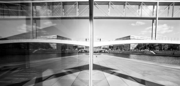 Mirror Image in the Glass Facade of The Paul-Loebe-Haus (PLH)