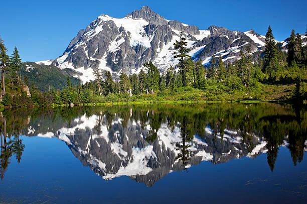 Mirror Image Lac Picture Lake du Mont Shuksan État de Washington - Photo