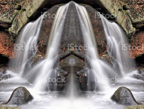 Photo of Mirror Images of Waterfall