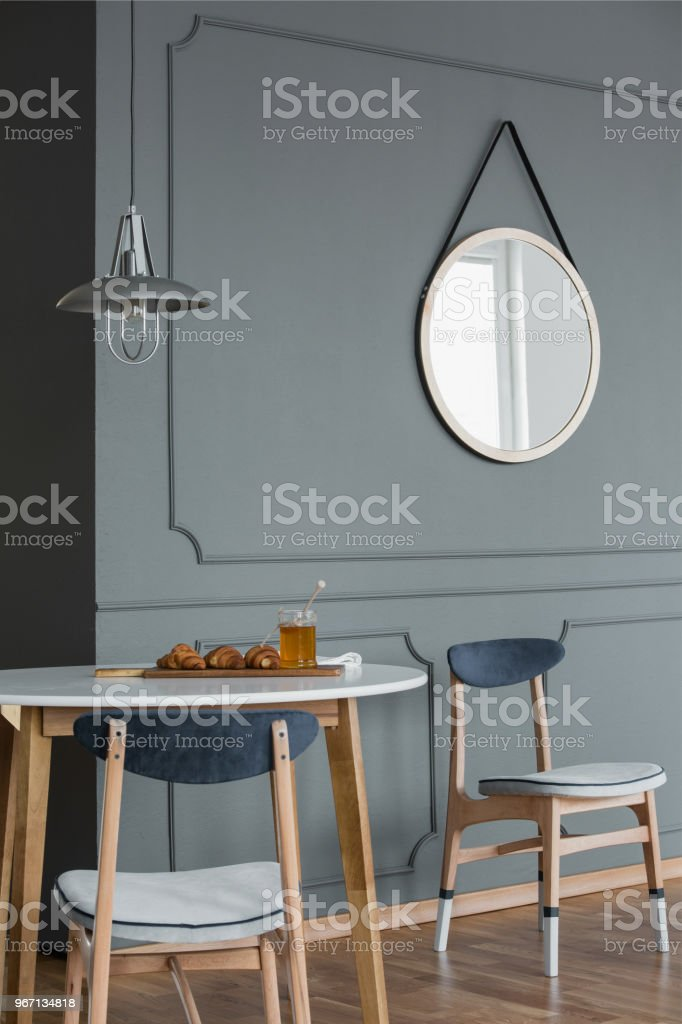 Mirror In Simple Dining Room Stock Photo Download Image Now Istock