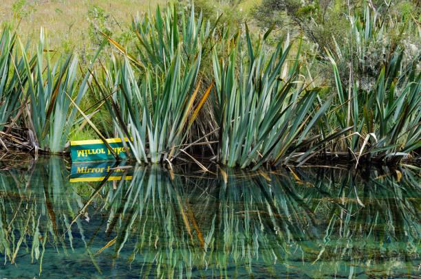 mirror lake 1 - te anau - lac mirror lake photos et images de collection