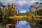 A large refreshing flow of glacial water in this small, seasonal lake at Yosemite National Park