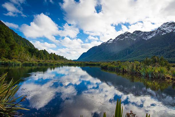 Lac Mirror, Milford Road, Nouvelle-Zélande - Photo