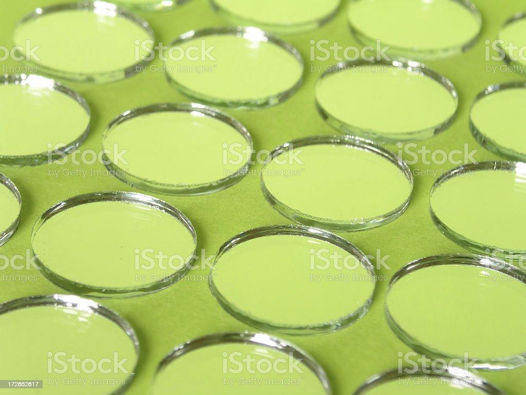 Mirror Mosaic - Lime royalty-free stock photo
