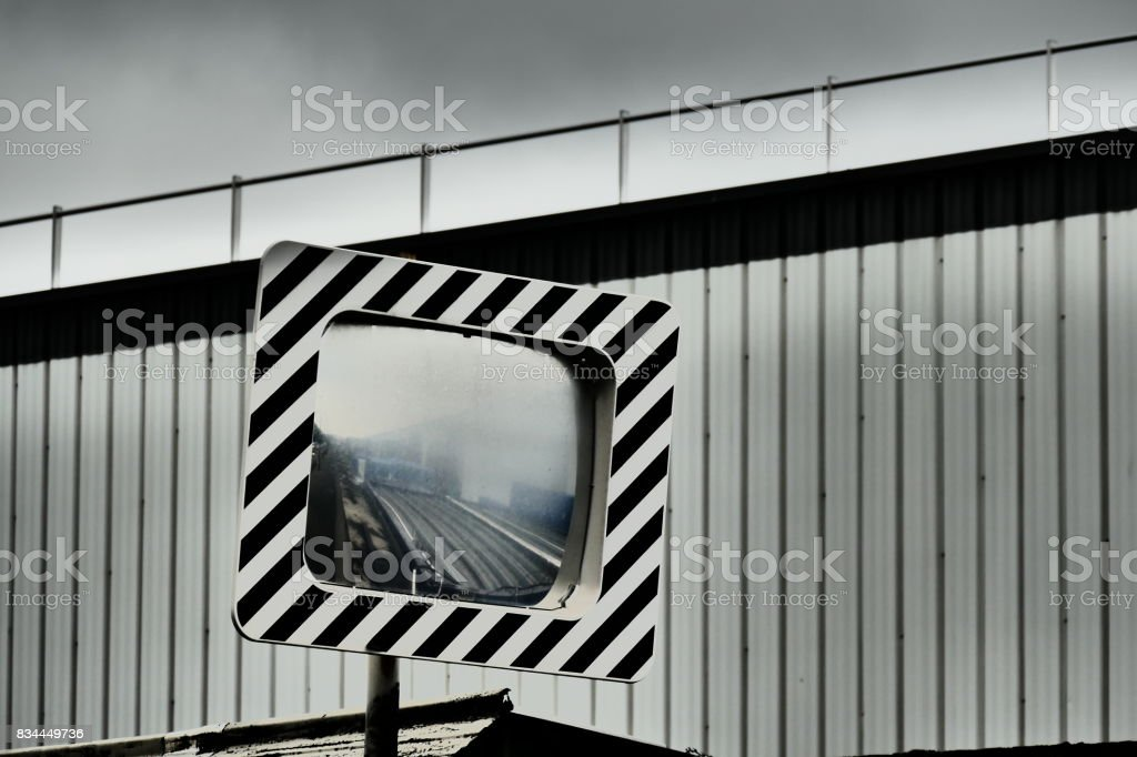Mirror of the journey stock photo