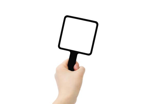 spiegel - handspiegel stockfoto's en -beelden