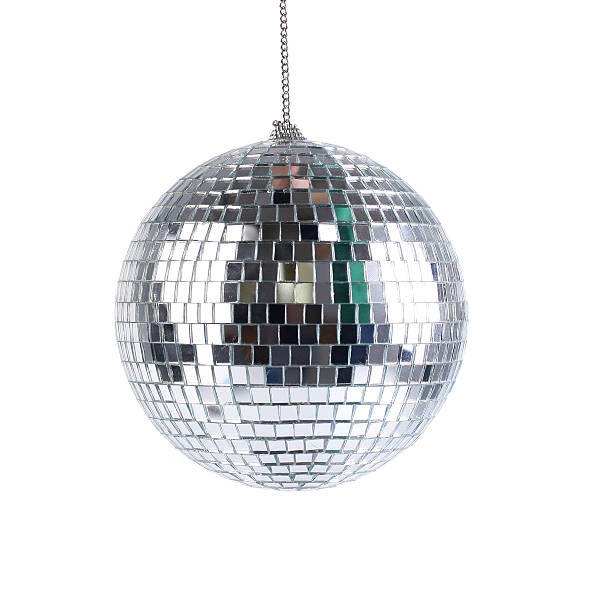 mirror sphere - disco dancing stock photos and pictures