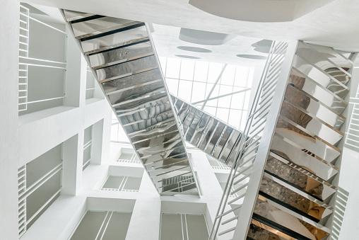 Mirror Stairway Architecture Neues Rathaus Salzburg Austria