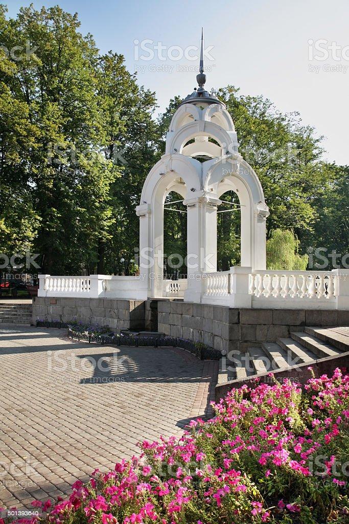 Mirror stream fountain in Victory park. Kharkov. Ukraine stock photo