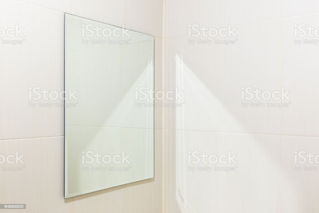 Mirror Toilet Interior stock photo