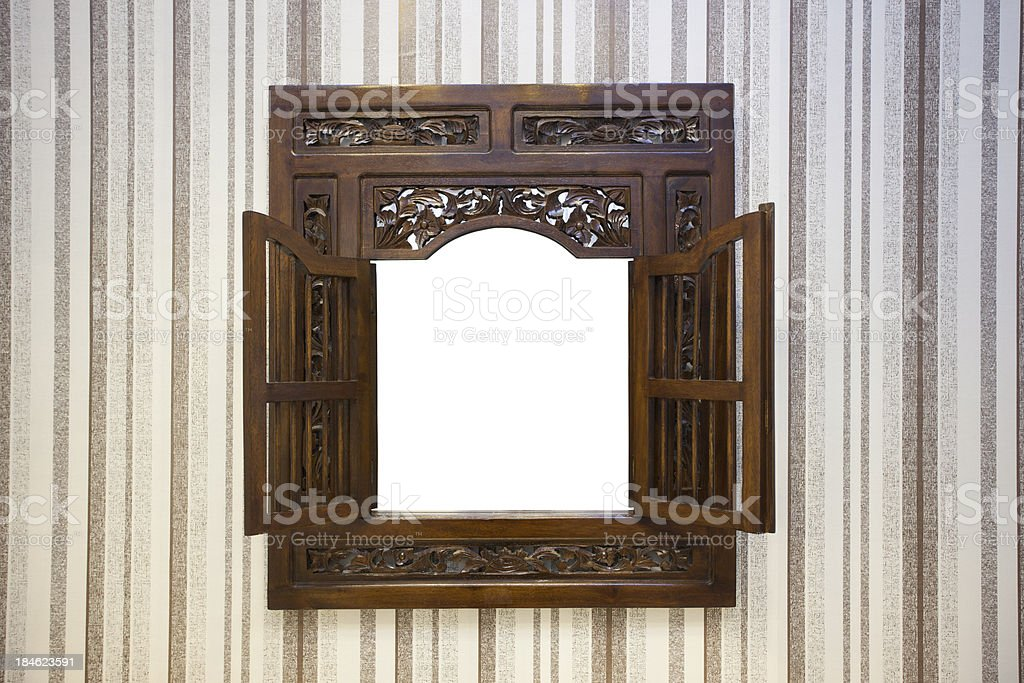 Mirror with Clipping Path royalty-free stock photo