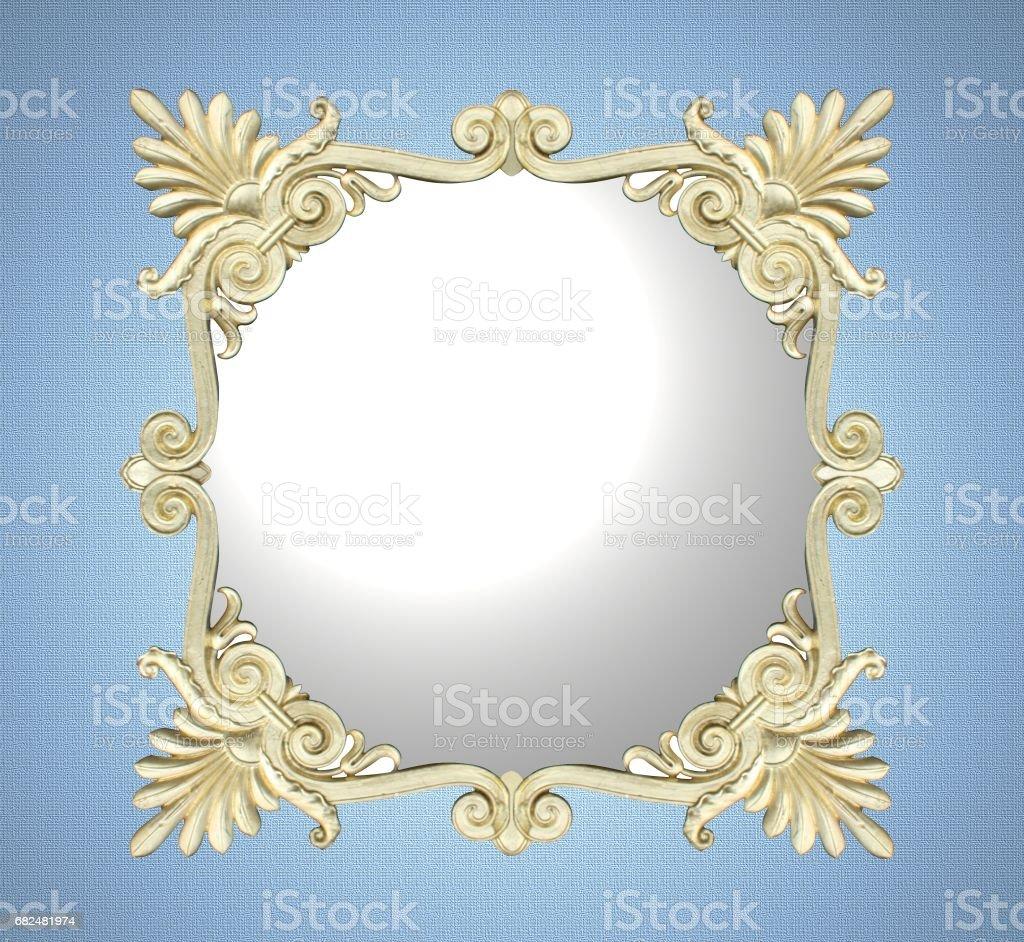Spiegel mit Goldrahmen Retro-Stil Lizenzfreies stock-foto