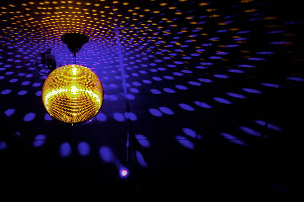 Mirrorball in disco stock photo