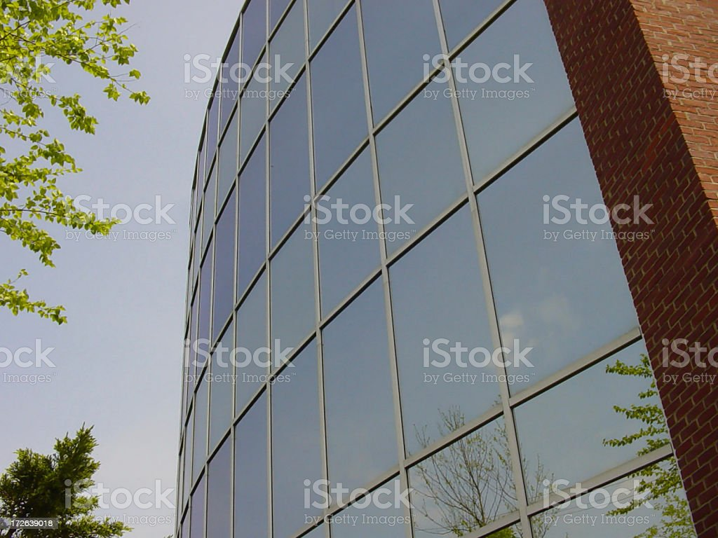 Mirrored Building royalty-free stock photo