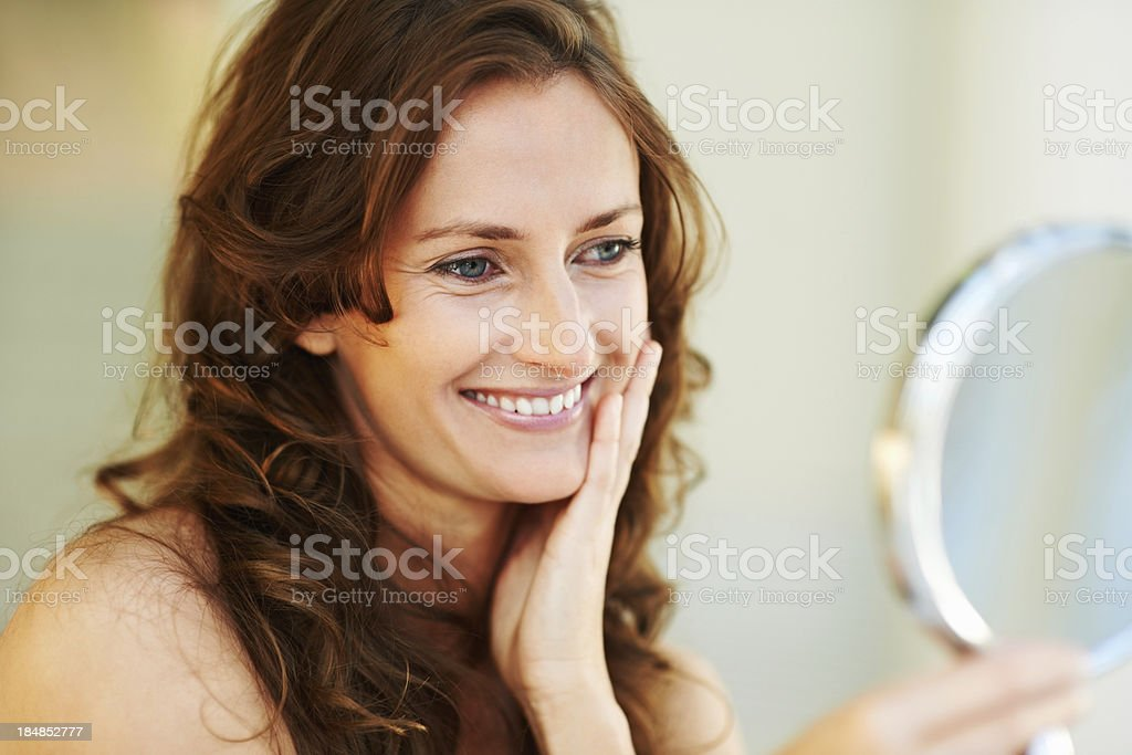 Mirroring beauty stock photo