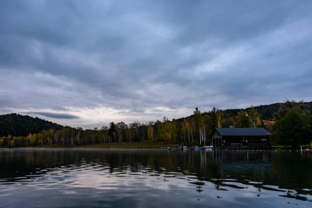 Spiegelung See am Morgen – Foto