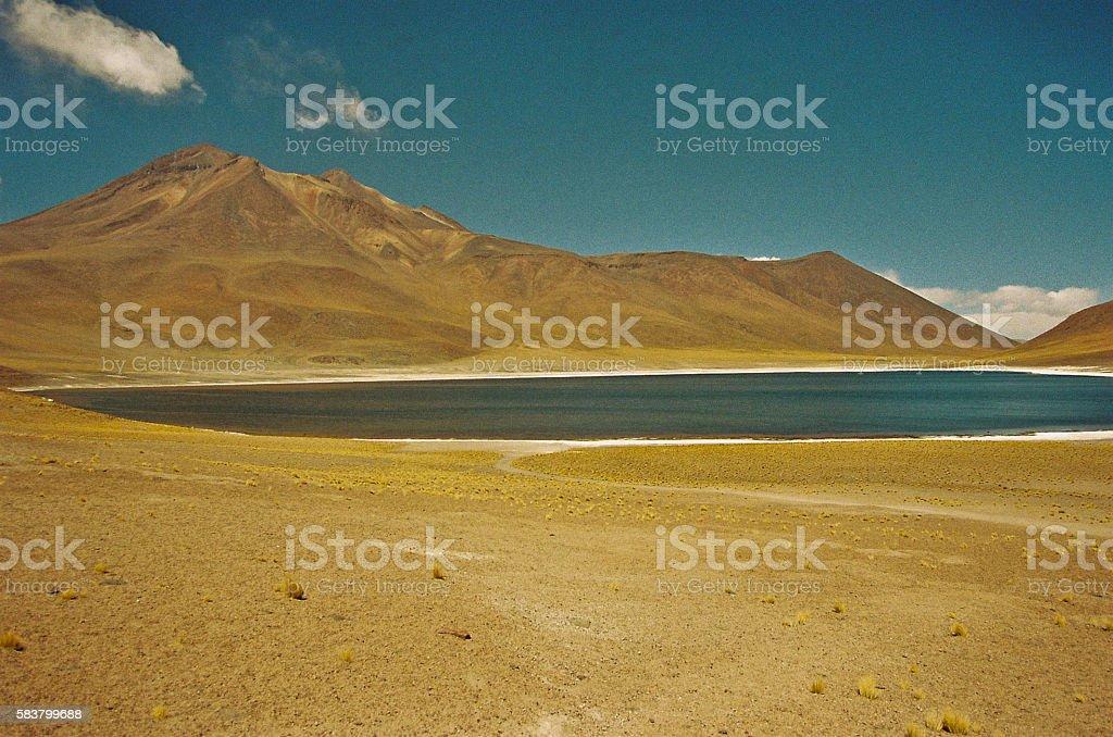 Miscanti lagoon in San Pedro de Atacama, Chile stock photo