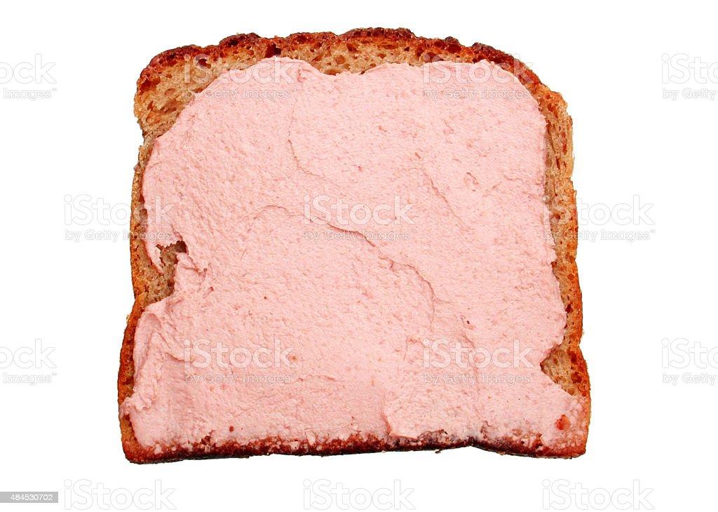 Mischbrotschnitte mit Leberwurst stock photo