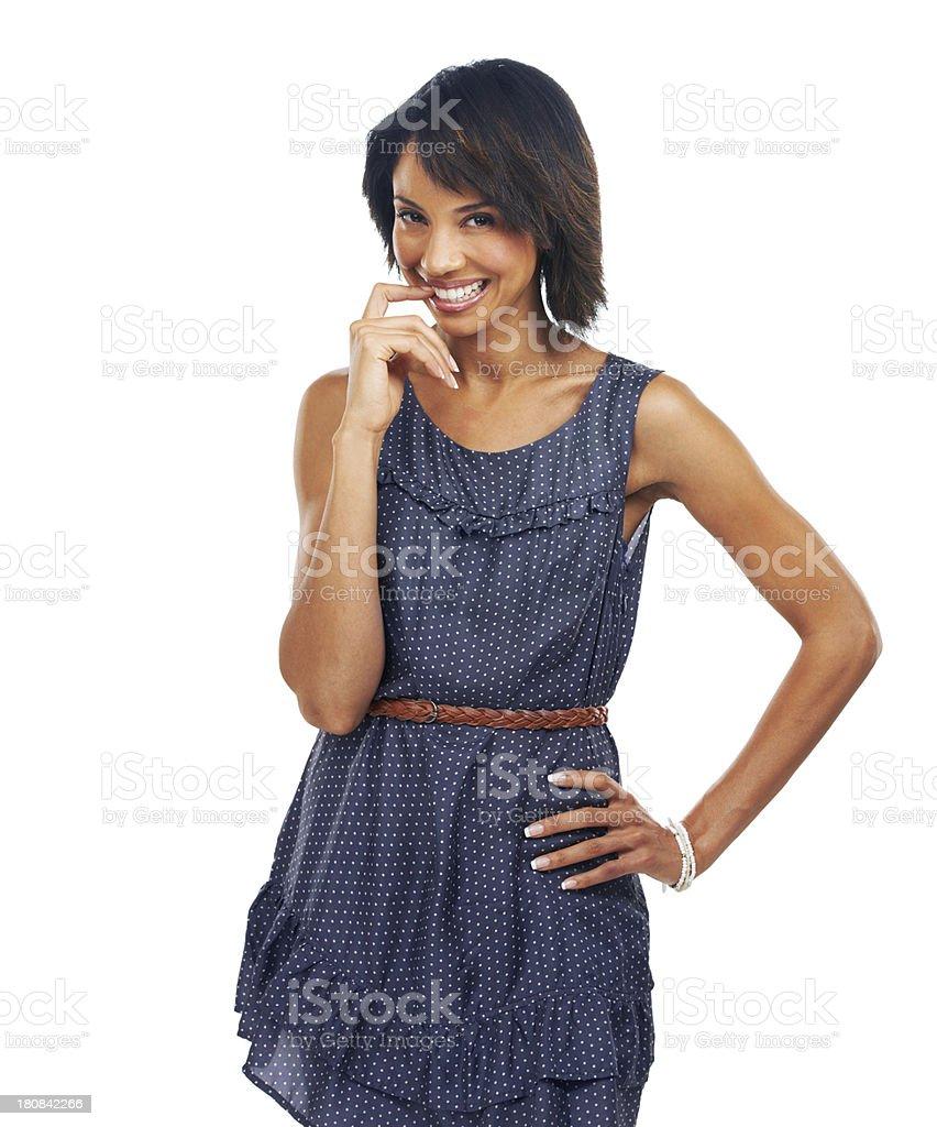Mischievious smile royalty-free stock photo