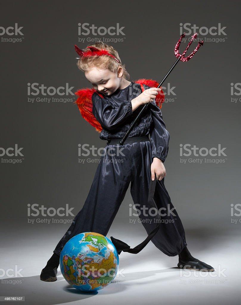 Mischievous little imp royalty-free stock photo