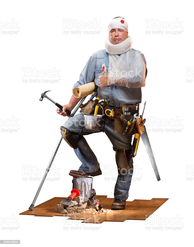 DIY Mishap Man stock photo